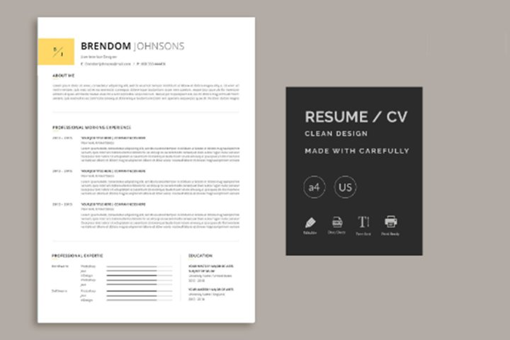 Minimal Resume in Word