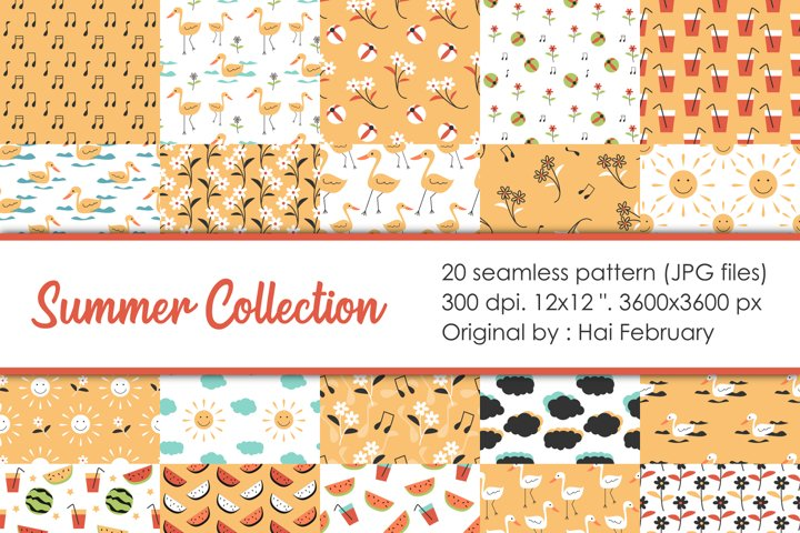 Summer Collection Seamless Pattern