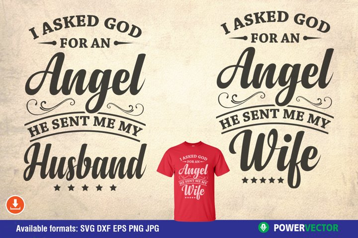 Husband and Wife Vinyl Shirt Design