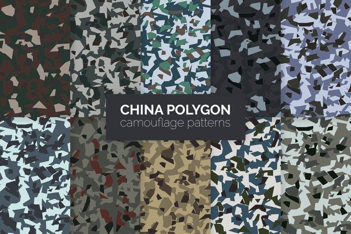 China Polygon Camouflage Patterns