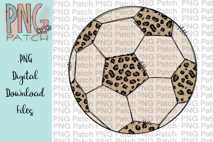 Leopard Print Soccer Ball, Soccer PNG File, Sublimation