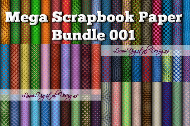 Mega Scrapbook Paper Bundle 001