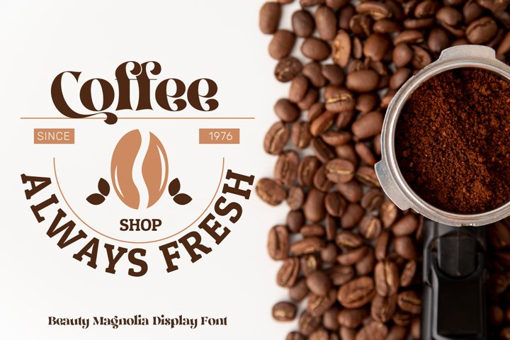 Beauty Magnolia - Display Font - Free Font Of The Week Design3