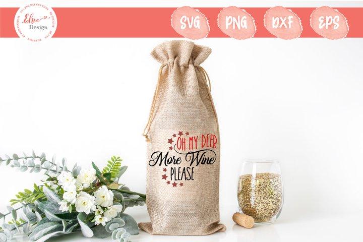 Christmas Wine Bag - Oh My Deer SVG Cut Files