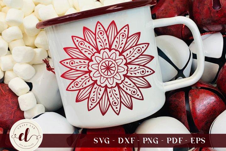 Zentangle SVG, Mandala Sunflower SVG, Sunflower Zentangle