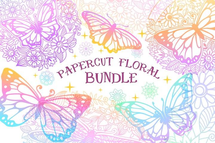 Papercut Floral Bundle | 21 SVG cut files