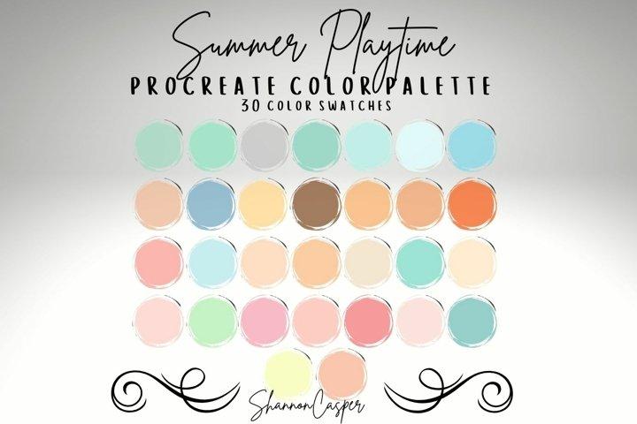 Pastels Mint Blush Pink Procreate Color Palette