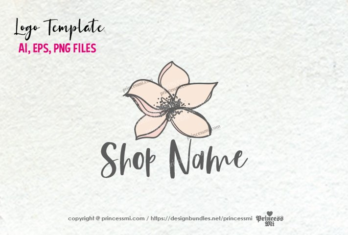 business logo template, Magnolia floral