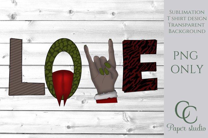 Sublimation design - Krampus Christmas love design