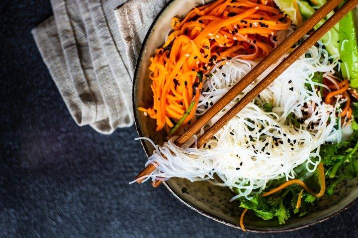 Japanese vegetable spring salad