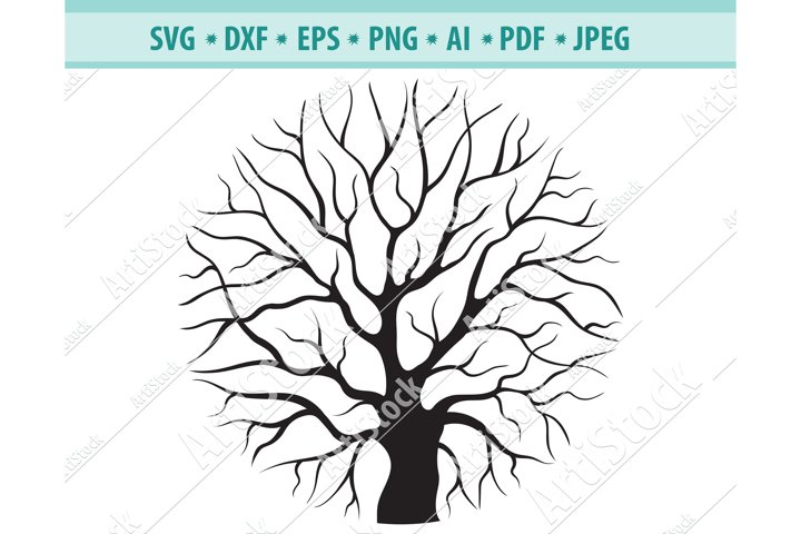 Tree svg, Round wood Svg, Crown tree Png, Branch Dxf, Eps