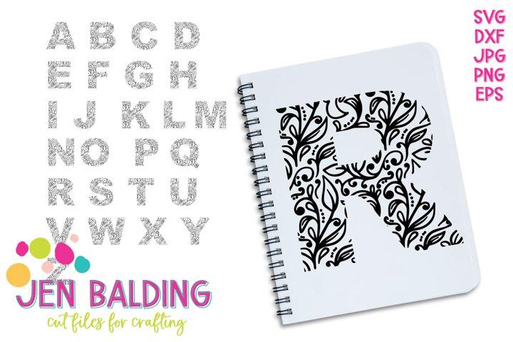 Vine Monogram SVG Alphabet Bundle
