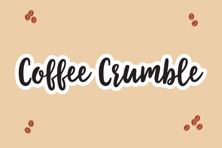 Coffee Crumble - A Handwritten Inky Font OTF TTF