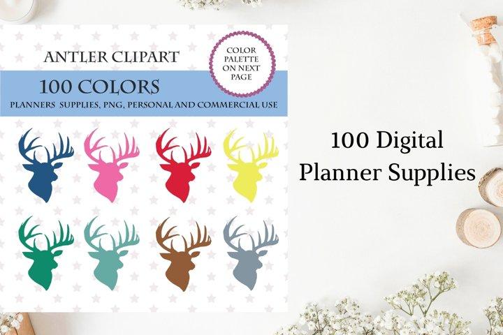 Deer Antlers Clipart, Antler Graphic Clip Art, Deer Antlers
