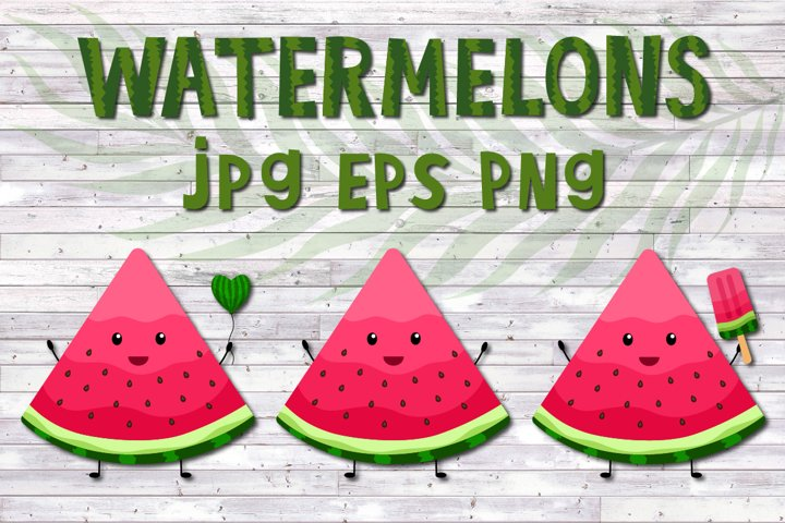 Watermelon clipart,kawaii fruit,popsicle sublimation PNG