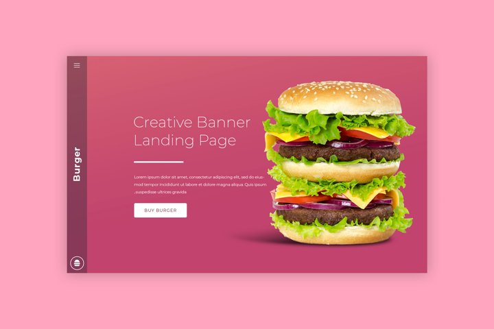 Burger Bar Hero Image Mockup #11