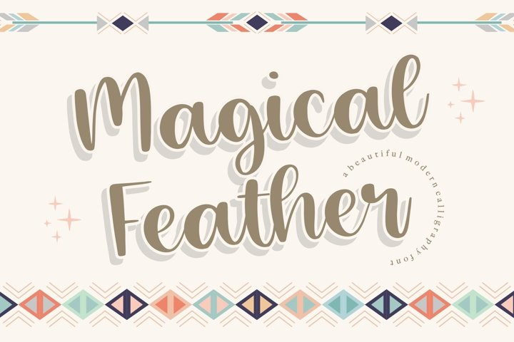 Magical Feather Beautiful Modern Calligraphy Font