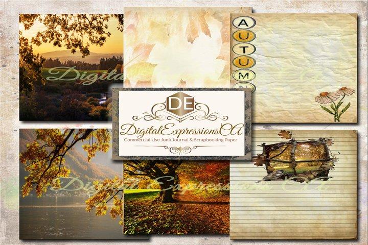 Autumn Splendor Junk Journal and Scrapbooking 18 Pages