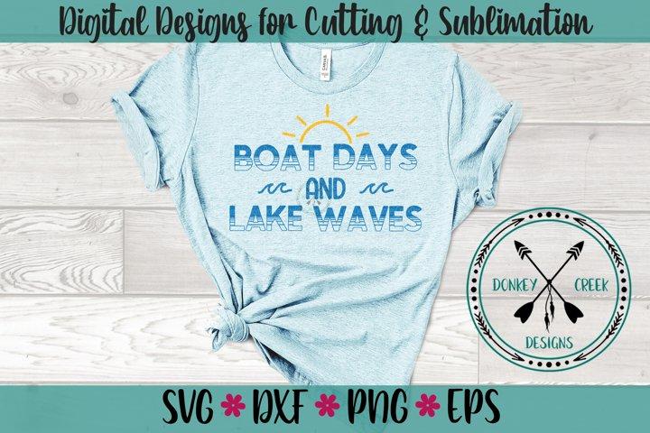 Boat Days Lake Waves SVG