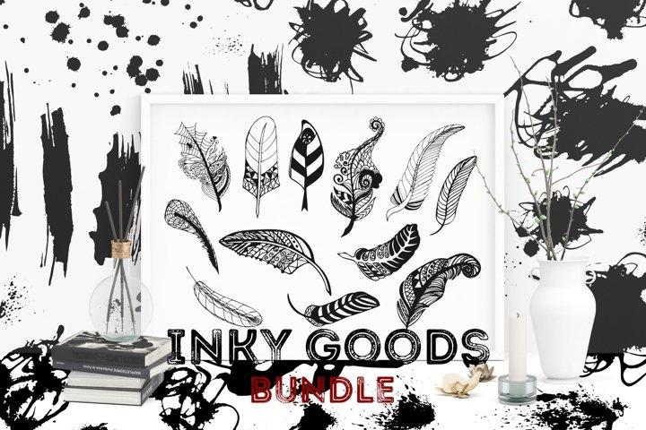 Inky Goods Design Element Bundle EPS/JPG/PNG