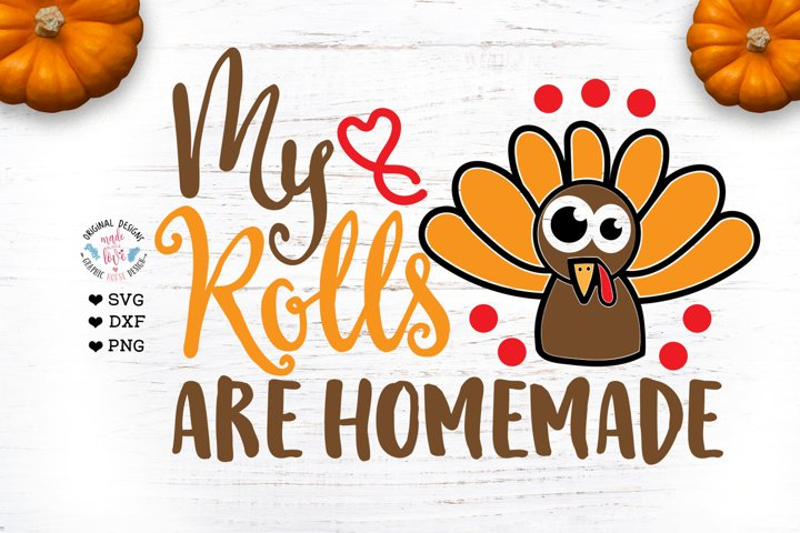 My Rolls Are Homemade - Thanksgiving Baby T-shirt design