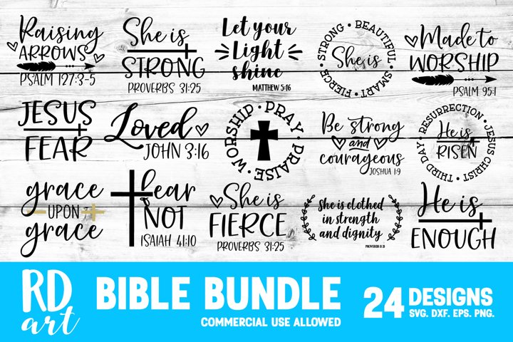 Bible Scripture Bundle SVG, DXF, PNG, EPS