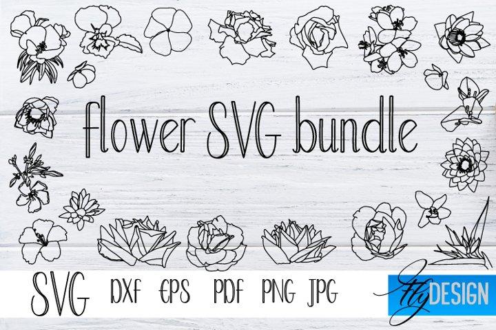 Flower SVG bundle. SVG Flowers. Mothers Day Svg. Floral SVG