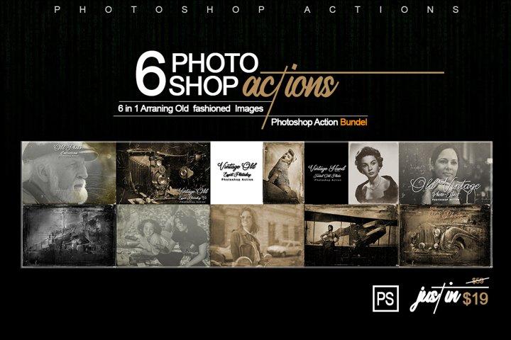 6-In-1 Vintage Photoshop Actions Bundle