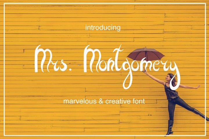 Mrs. Montgomery Brush Font