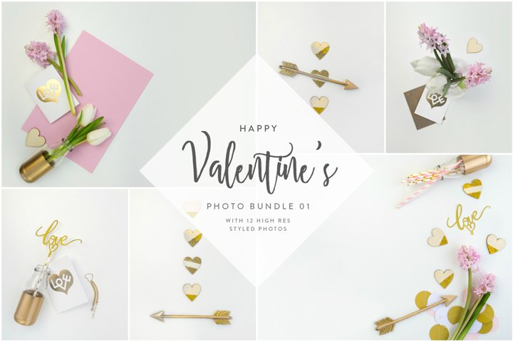 Valentines Styled Photo Bundle - Gold & Rose