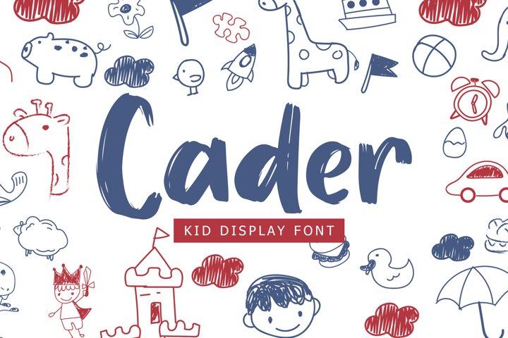 Cader Kid Display Font