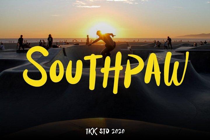 Southpaw - Graffiti Signature Font