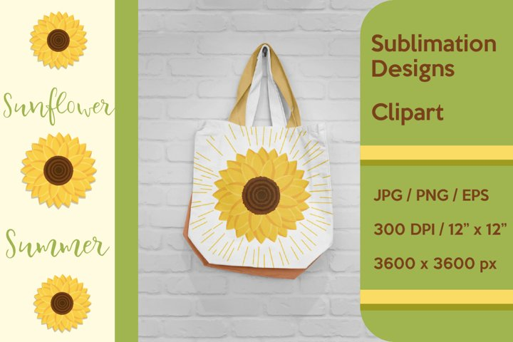 Sunflower Sublimation and Clipart.