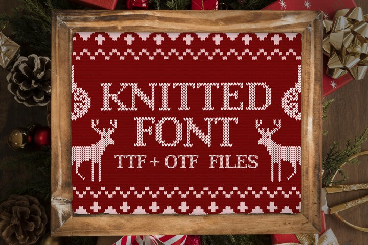 Christmas Ugly Sweater Font, Knitted Font, Holiday Font Face