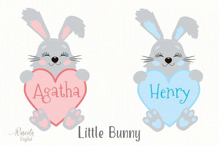Cute Little Easter Bunny Clipart 4