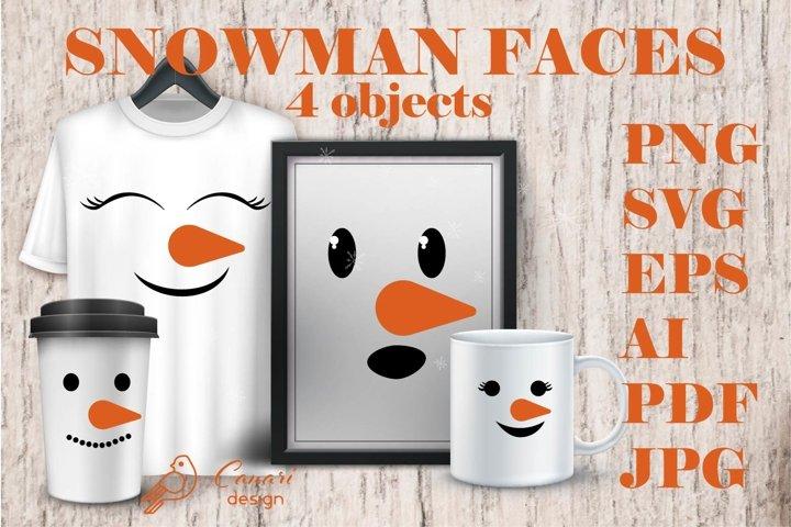 SNOWMAN FACES collection