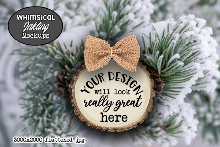 Pretty Woodland Ornament Mockup