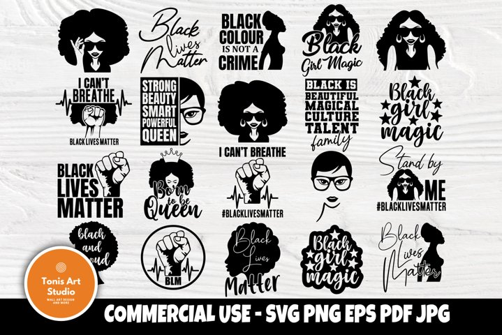Black Woman Svg Bundle Black Girl Magic Svg Strong Woman 733075 Cut Files Design Bundles