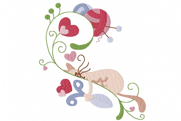 Knitting Kittens 3 Machine Embroidery Design in 3 sizes