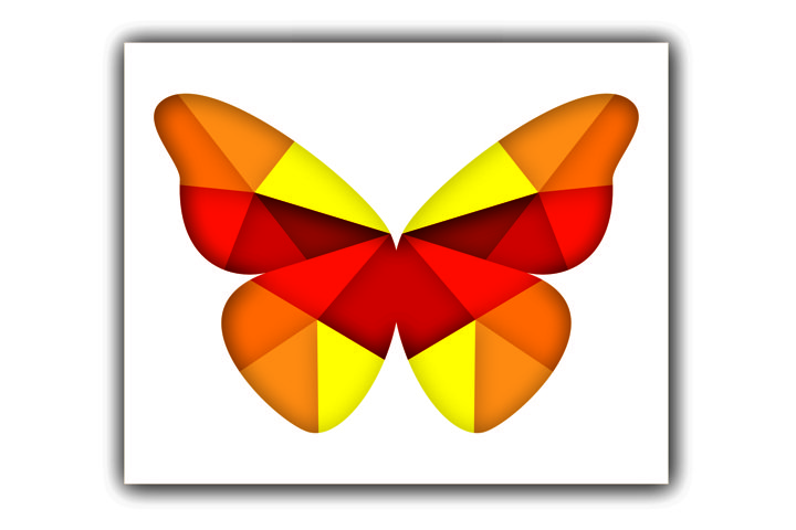 Layered Butterfly SVG, Cut file Mandala, 3D Butterfly