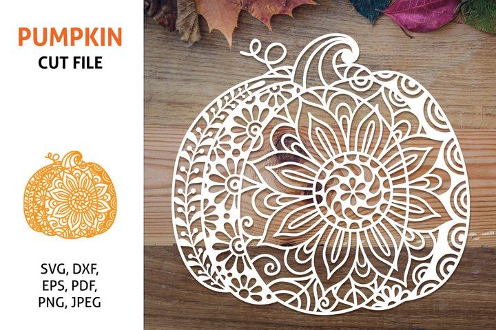Pumpkin Mandala, SVG Fall cut file