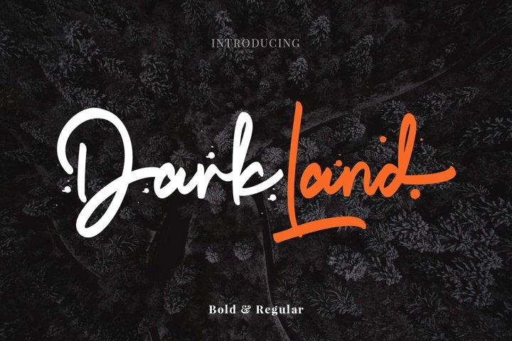 DarkLand Font Duo