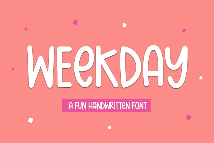 Weekday - A Fun Handwritten Font
