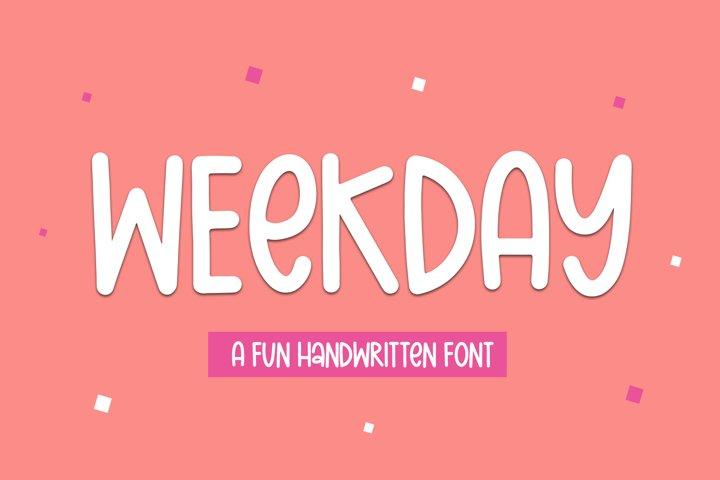 Weekday - A Fun Handwritten Font