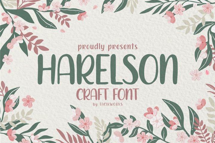 Harelson Craft Font