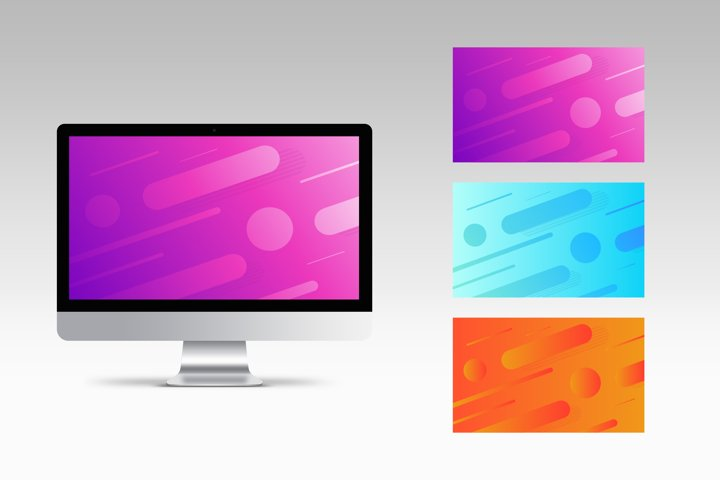 Geometric backgrounds with gradient colors. Wallpaper