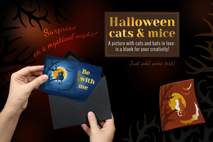A set of Halloween elements in vector and bitmap formats.
