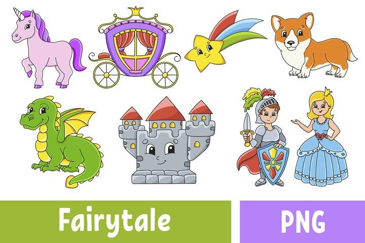 Fairytale Set Digital Clip Art PNG