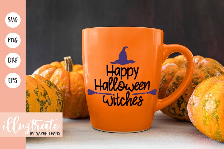 Happy Halloween Witches SVG Cut File | Halloween SVG