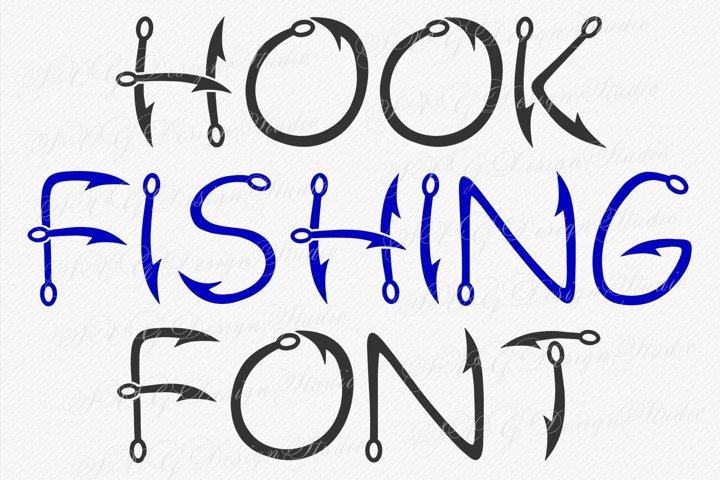 Hook Fishing Font